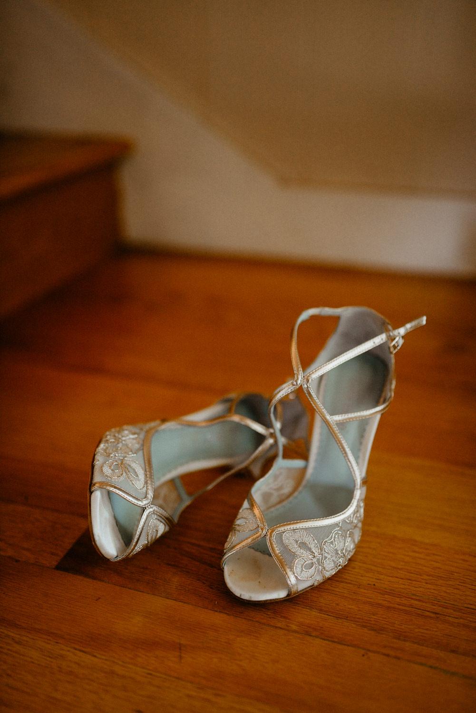 bridal gown shoes