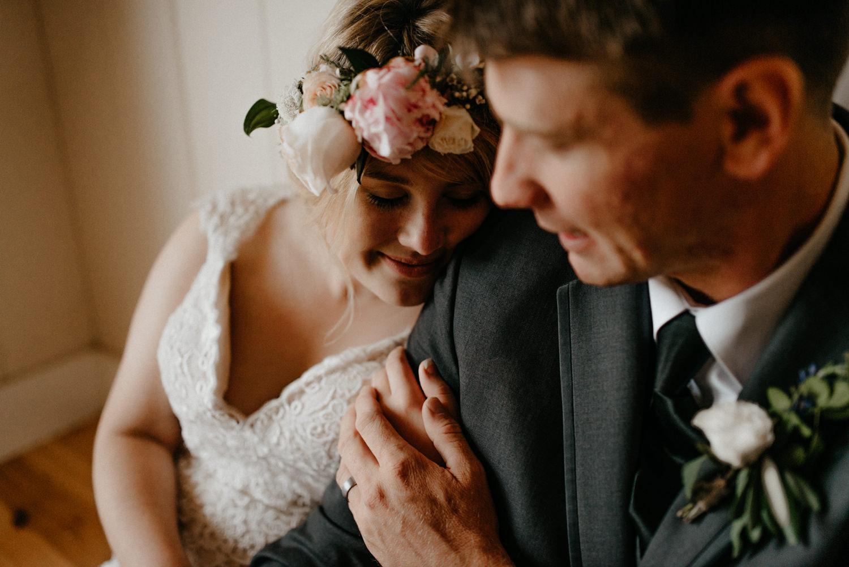 Newlyweds inside on rainy wedding day-8.jpg