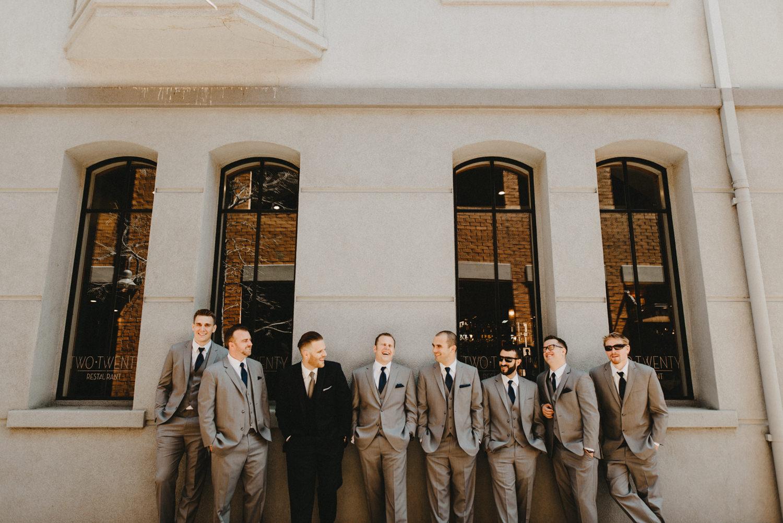 urban groomsmen pictures