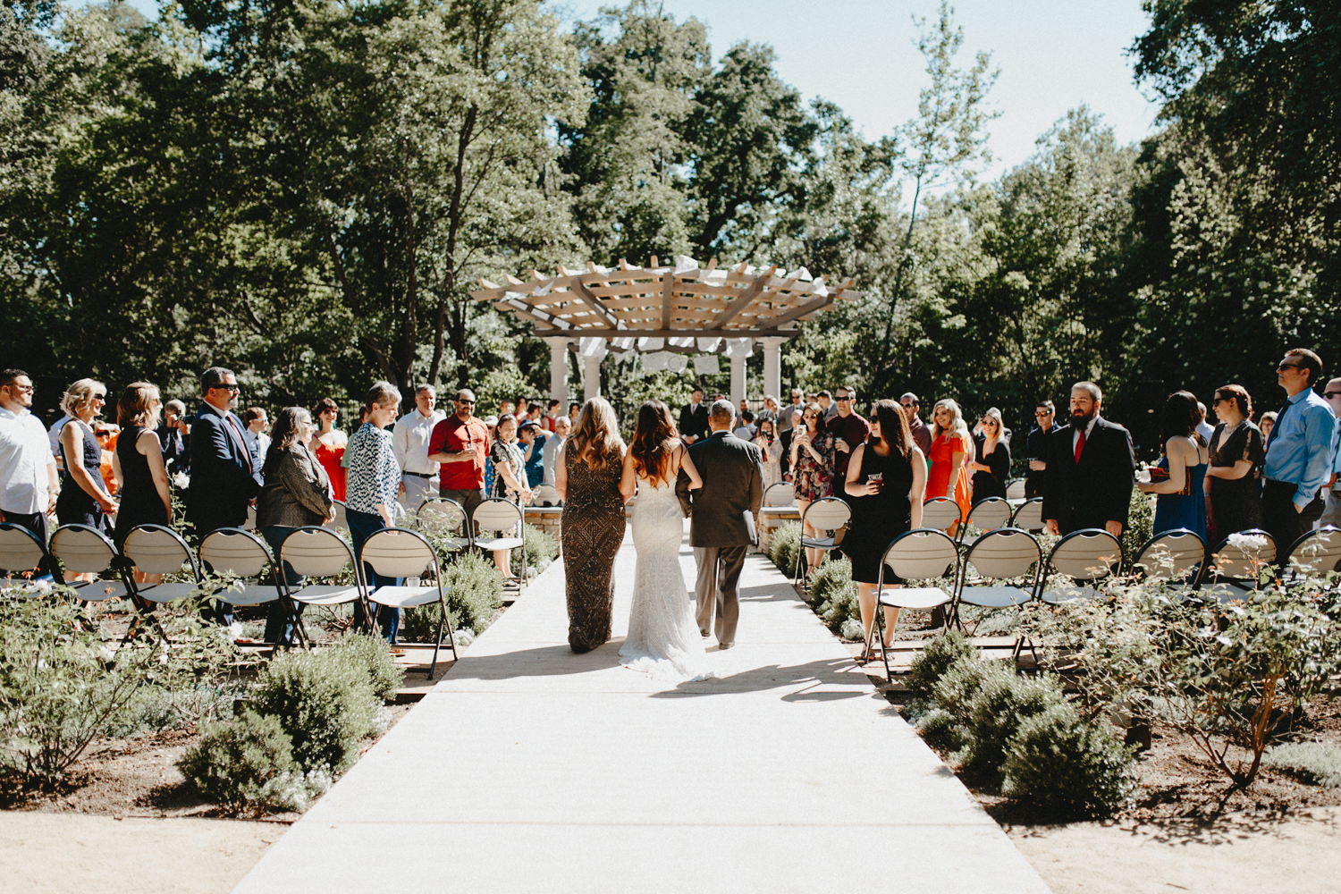 Wedding at the Creekside Rose Gardens in Chico California