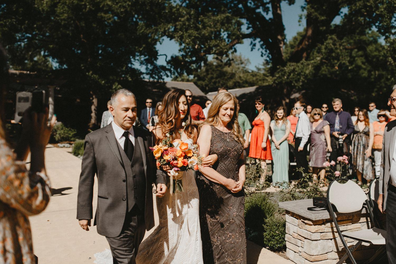 Grand entrance Bidwell park wedding