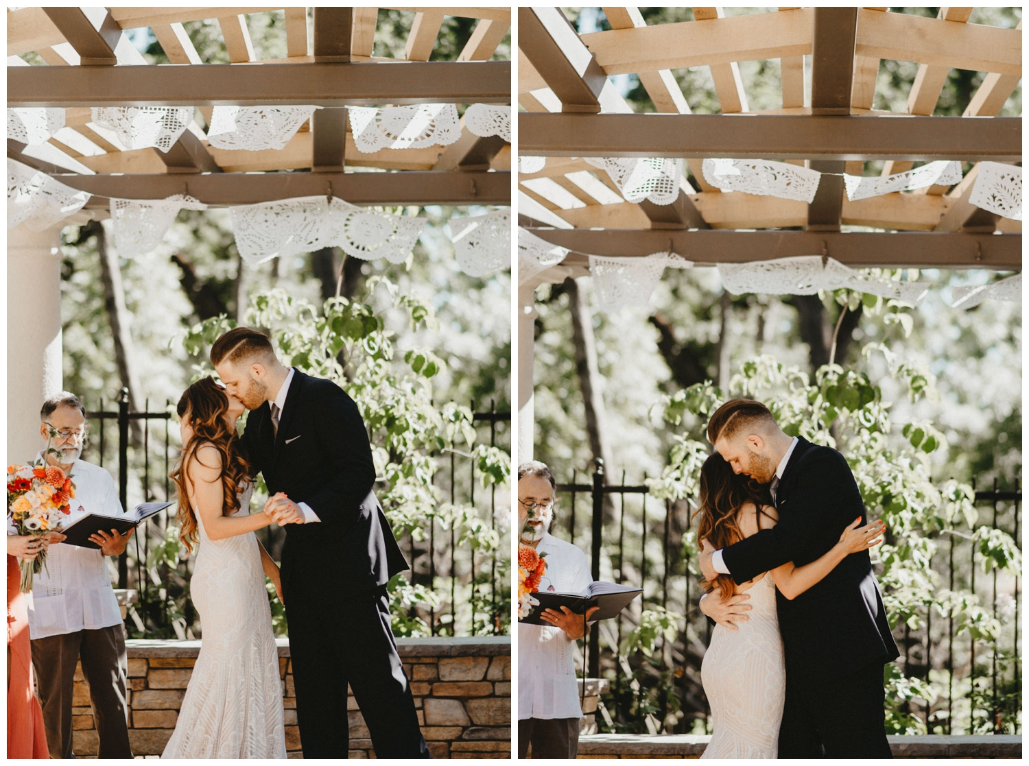first kiss at creekside rose gardens