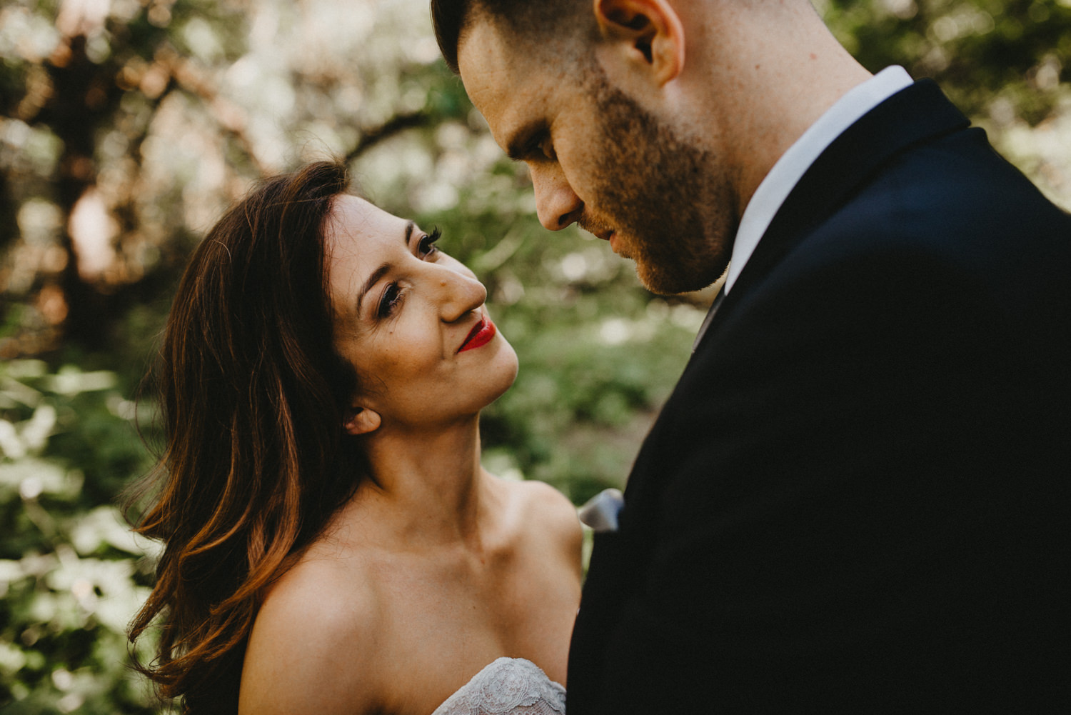 wife smiles at her husband