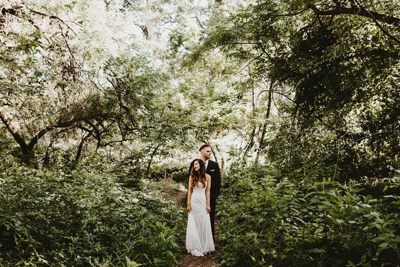 Bidwell park wedding picture