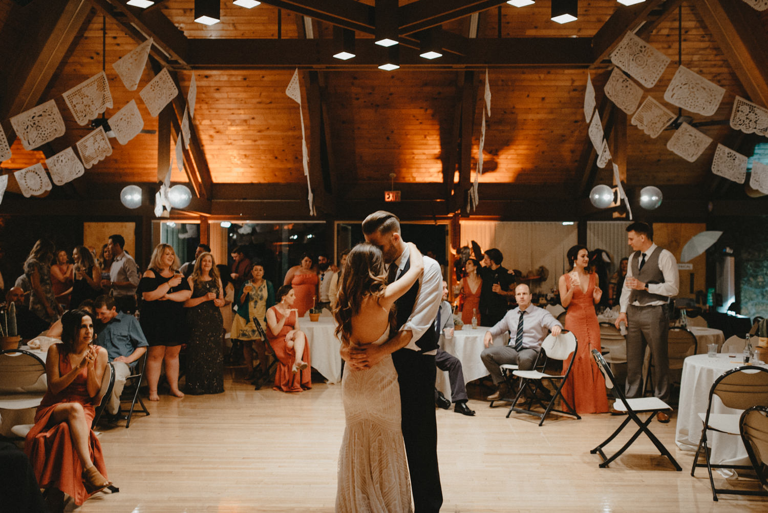 first dance in an indoor reception space in chico ca
