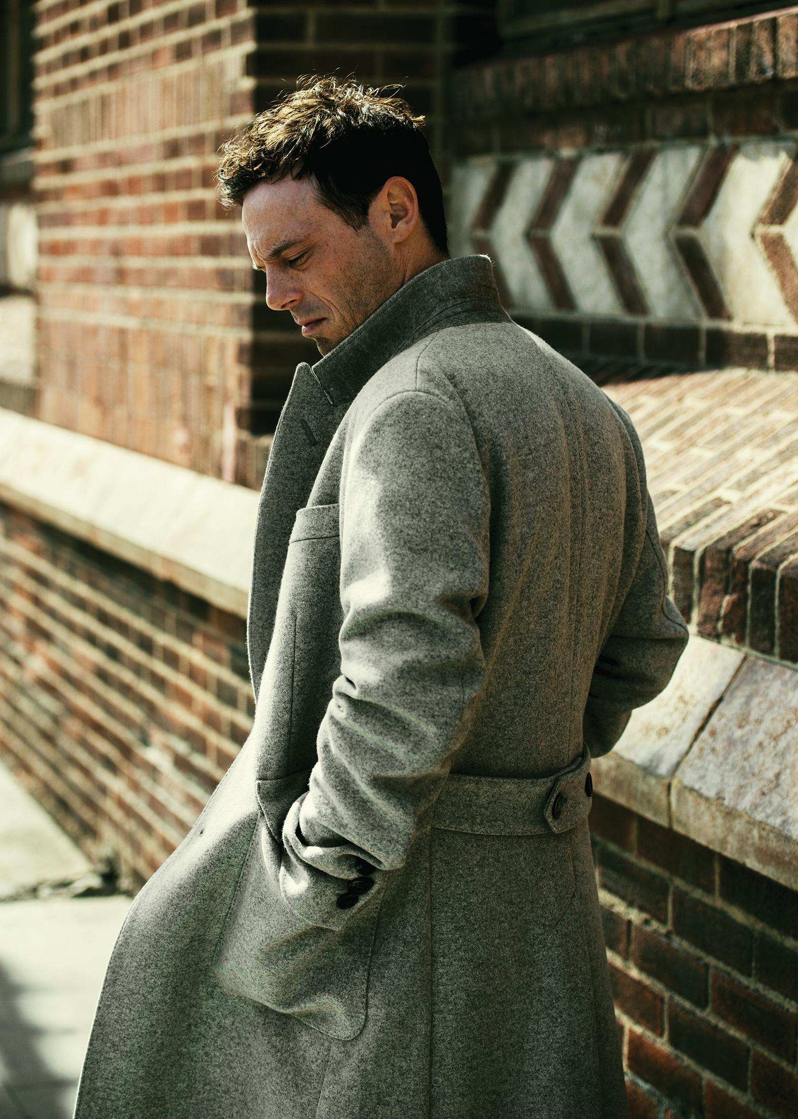 Coat by   HARDY AMIES  .