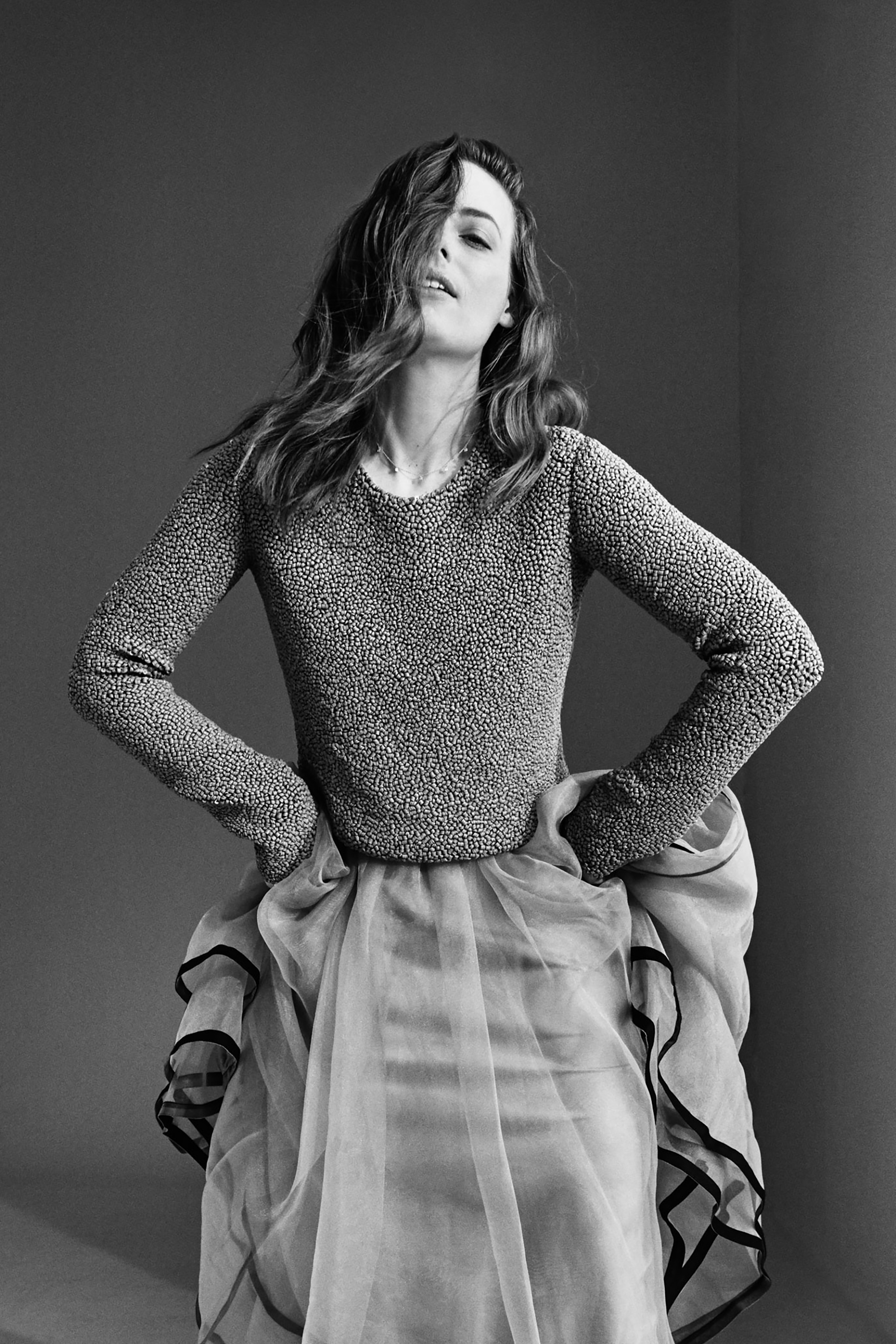 Top by   JEFFREY DODD  ,Skirt by   ANTONIO MARRAS  ,Necklace and Ear cuffs by   ERINESS