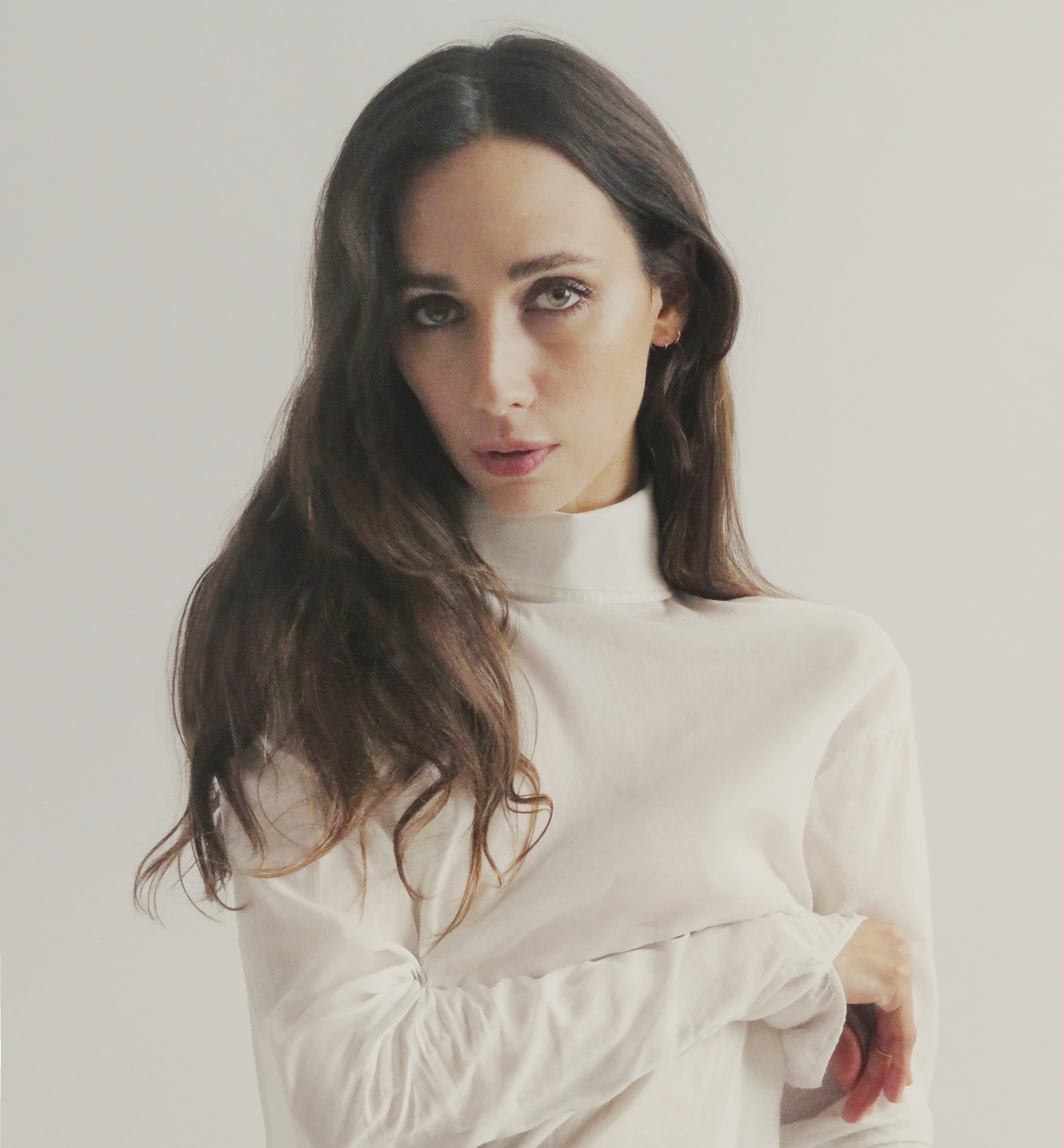 Blouse by   INDEX SERIES  ,Jewelry by   CATBIRD