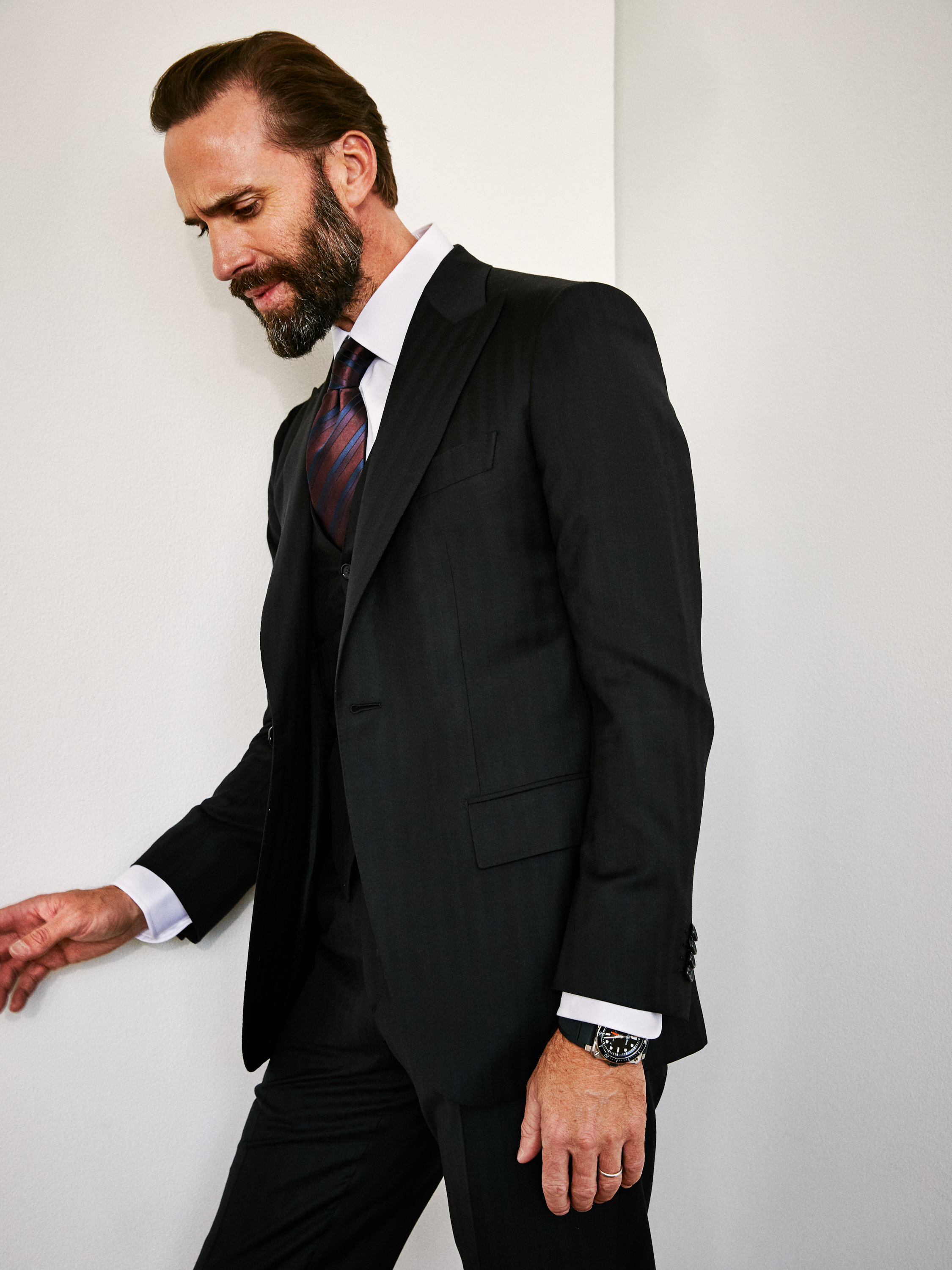 Outfits all by   BRIONI   Timepiece by  BELL & ROSS  | BR 03-92 Diver