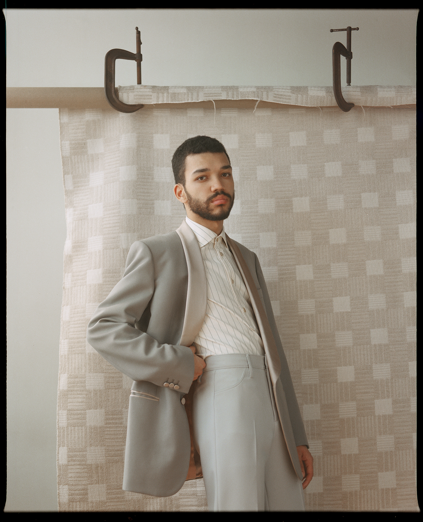 Blazer, shirt and trousers by   GUCCI
