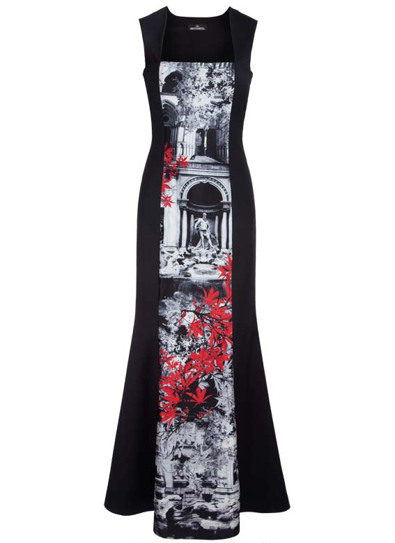 Cropped Jennifer Rothwell - Black Wool and Roman Print Long Dress - Low Res.jpg