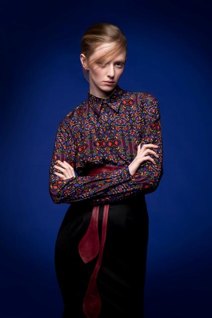 8. Mens geometric shirt and pencil skirt.jpg