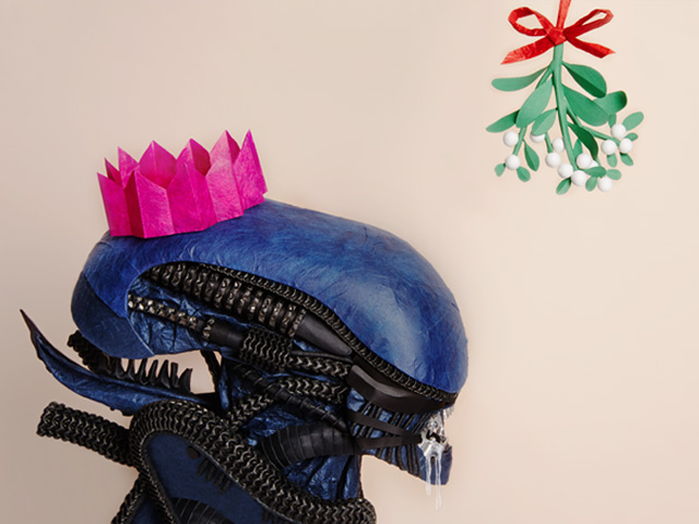 Alien at Christmas