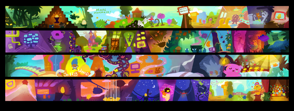 "Colour Script for ""Moshi Monsters: The Movie"" released by Universal"