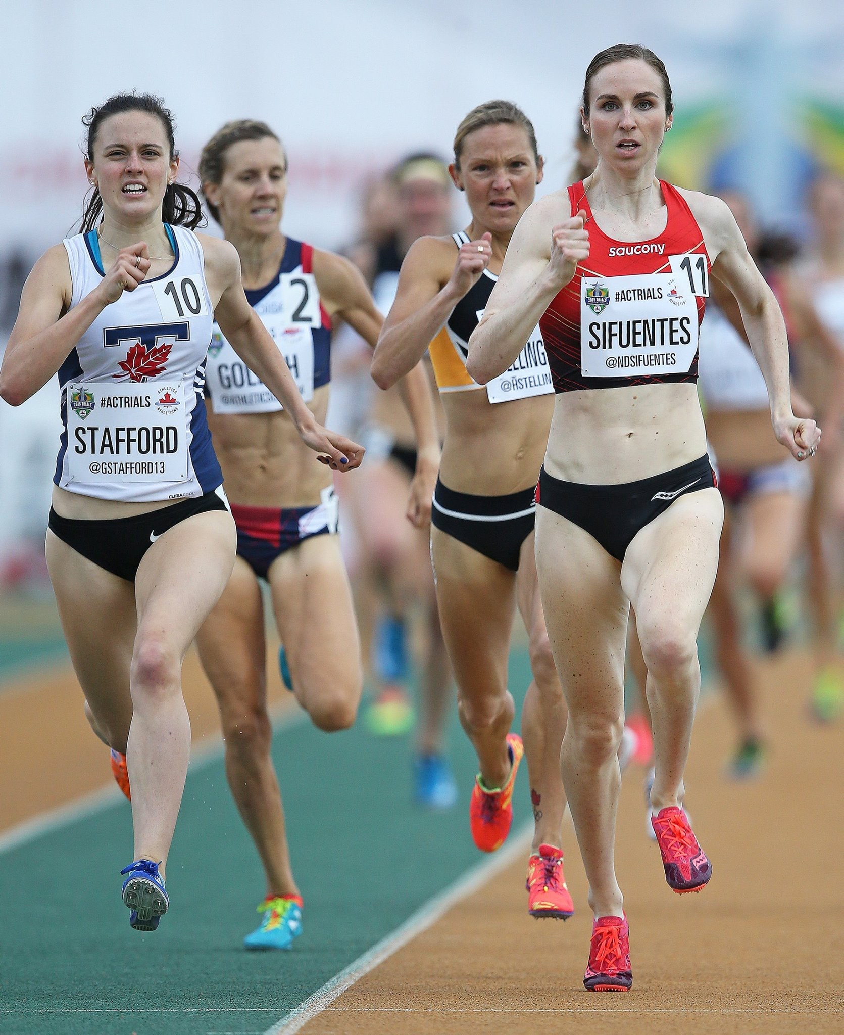 Sprinting for the finish at the Canadian Olympic Trials. photo credit: Claus Andersen, for Athletics Canada