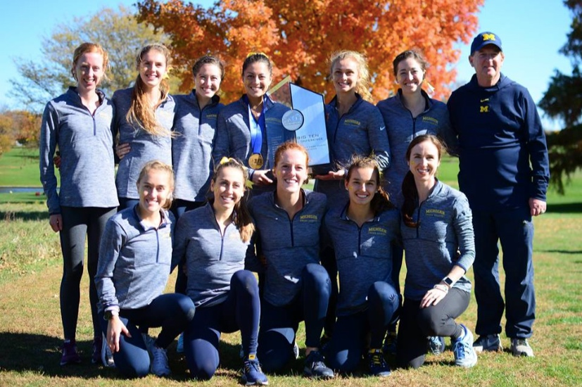 The happy victors after winning the 2019 Big Ten team championship.