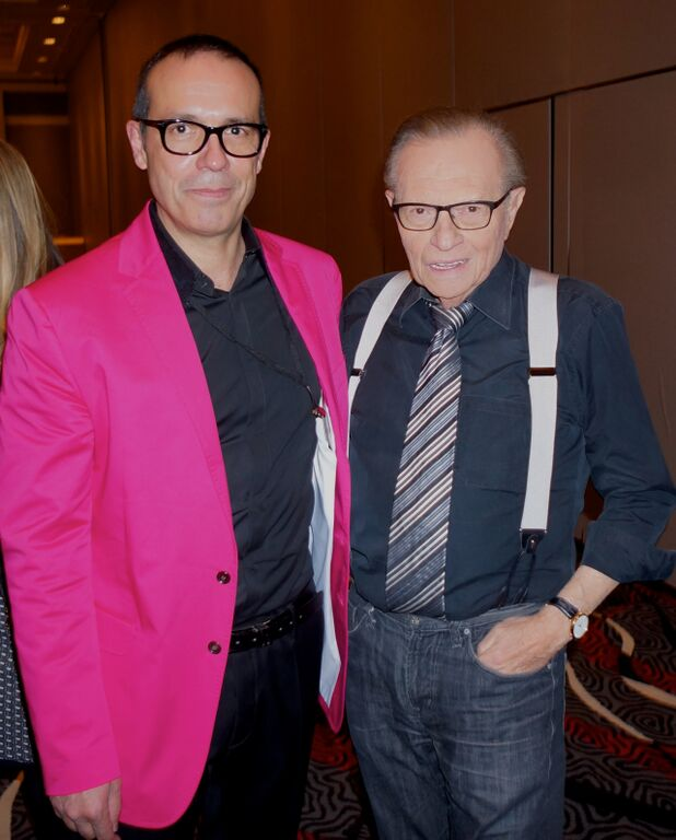 Thierry Amsallem with Larry King (Los Angeles 2013)