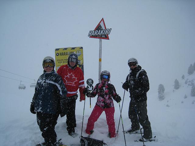 Skiing the Harakiri