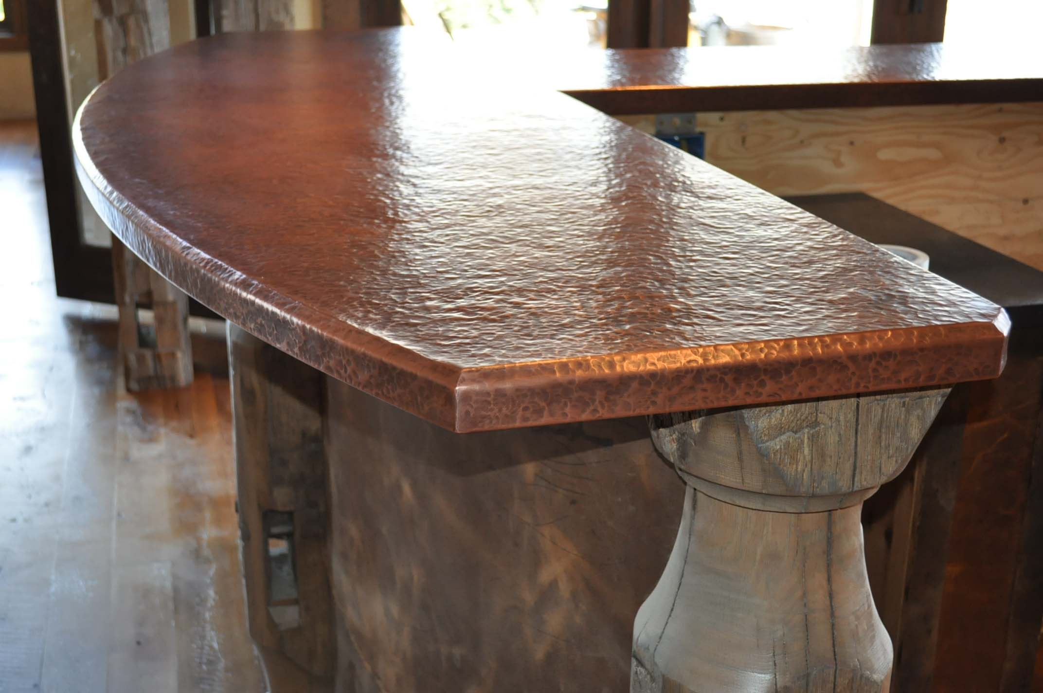 Cool copper countertop by Mountain Copper Creations http://www.mtncoppercreations.com/