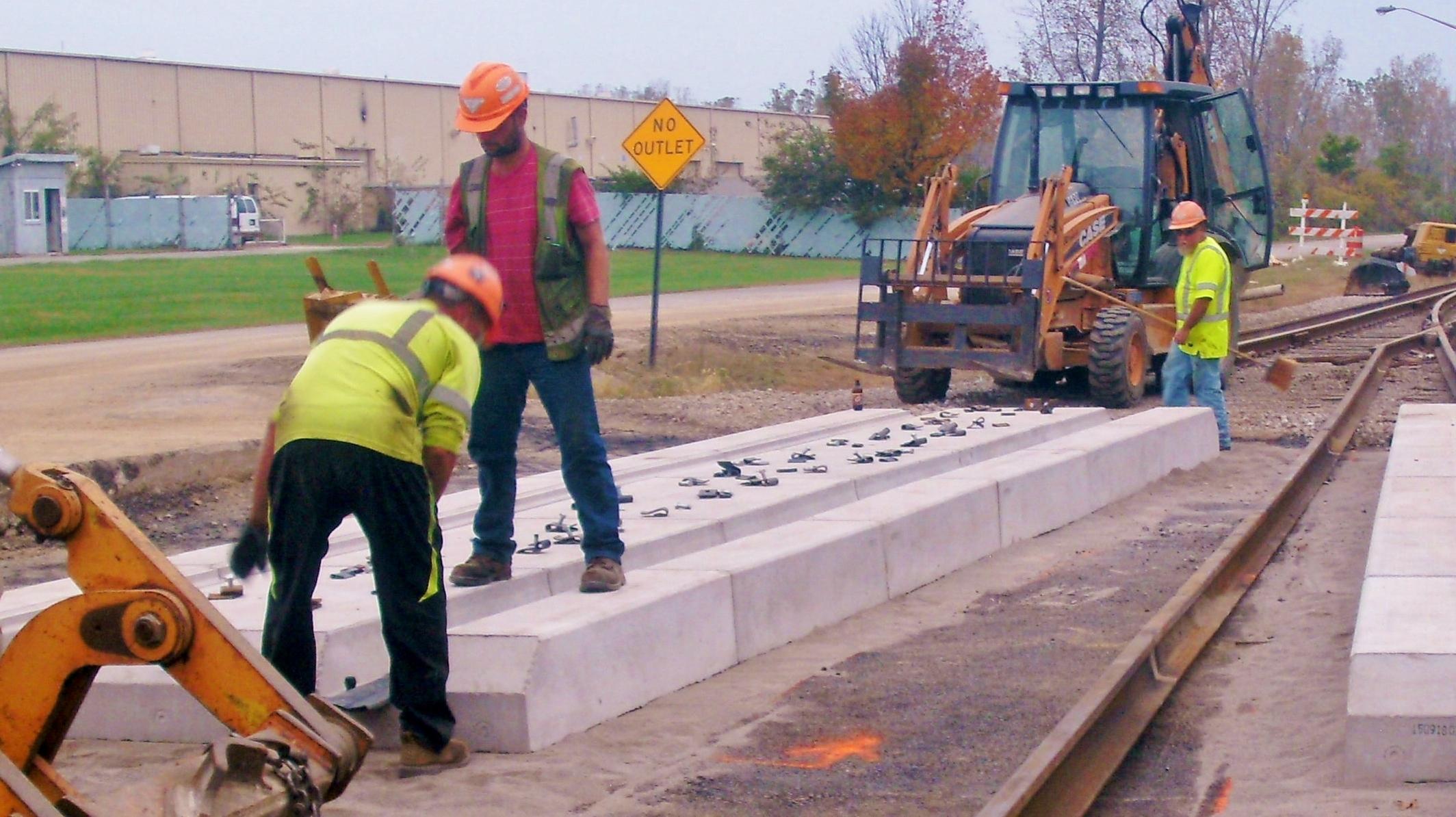FRC constructing road crossing, Delaware OH..JPG