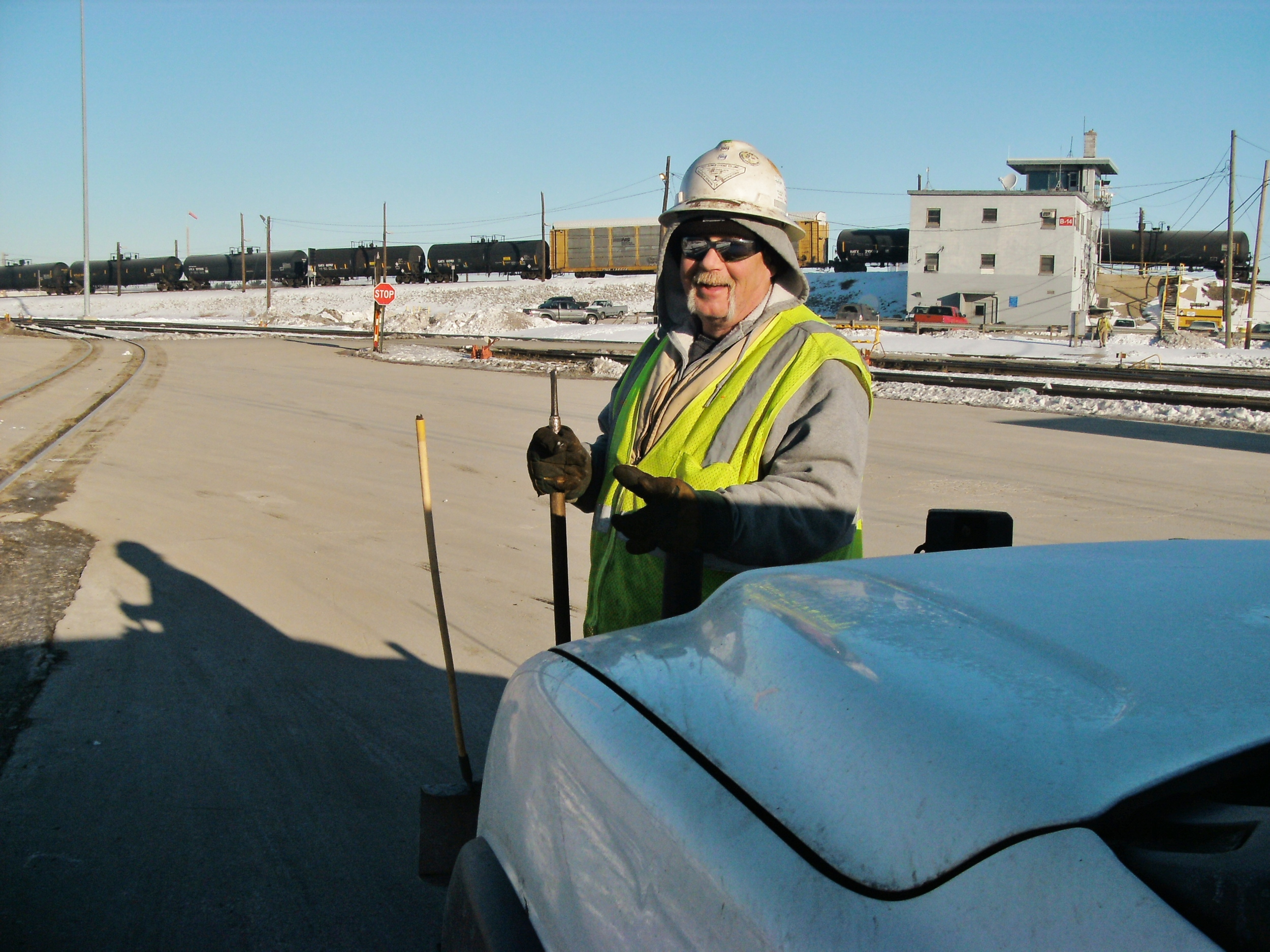 FRC track inspector doing his duties in zero degree weather. January 2011.jpg