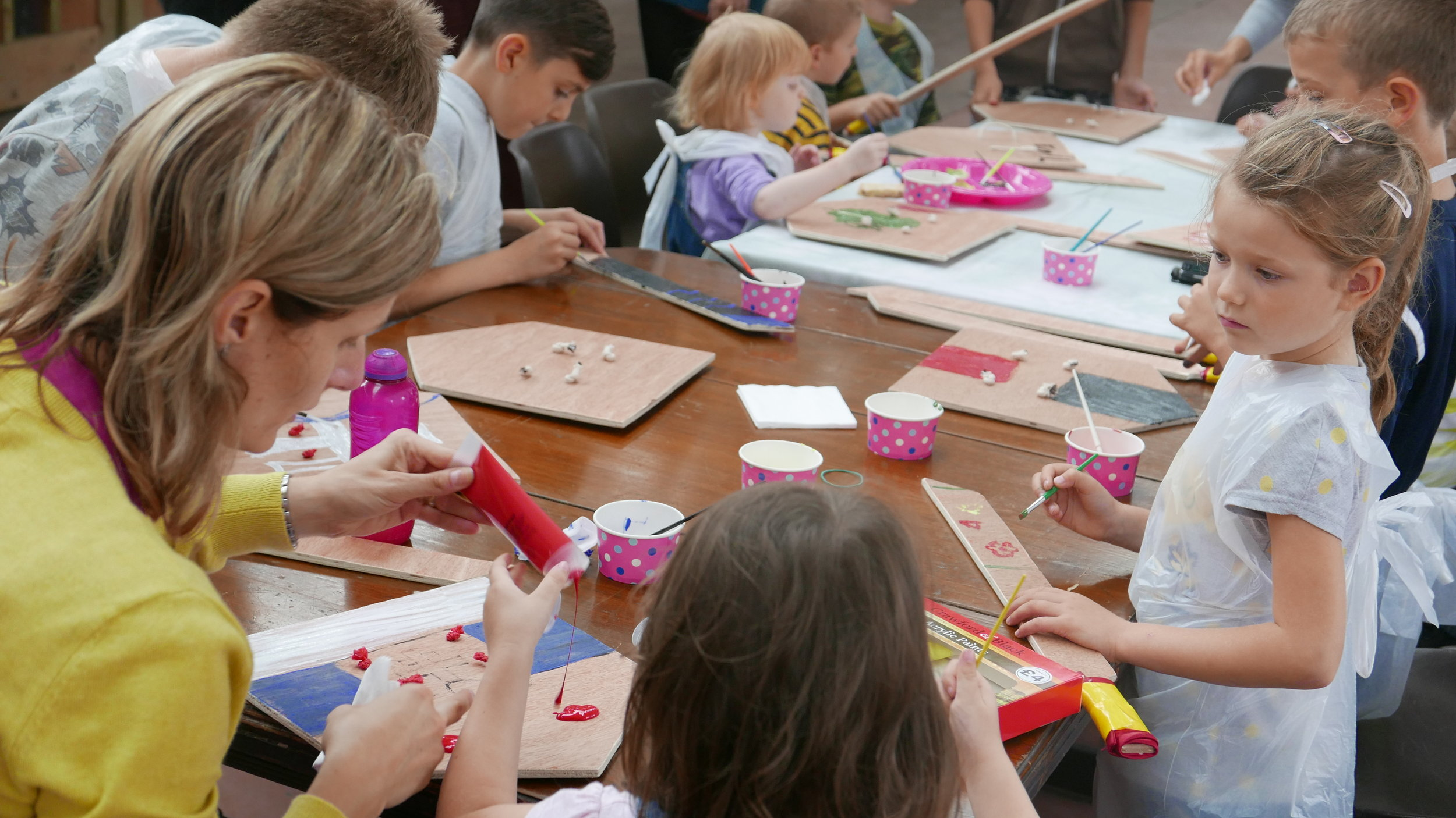 A kids workshop in the Upper Gallery