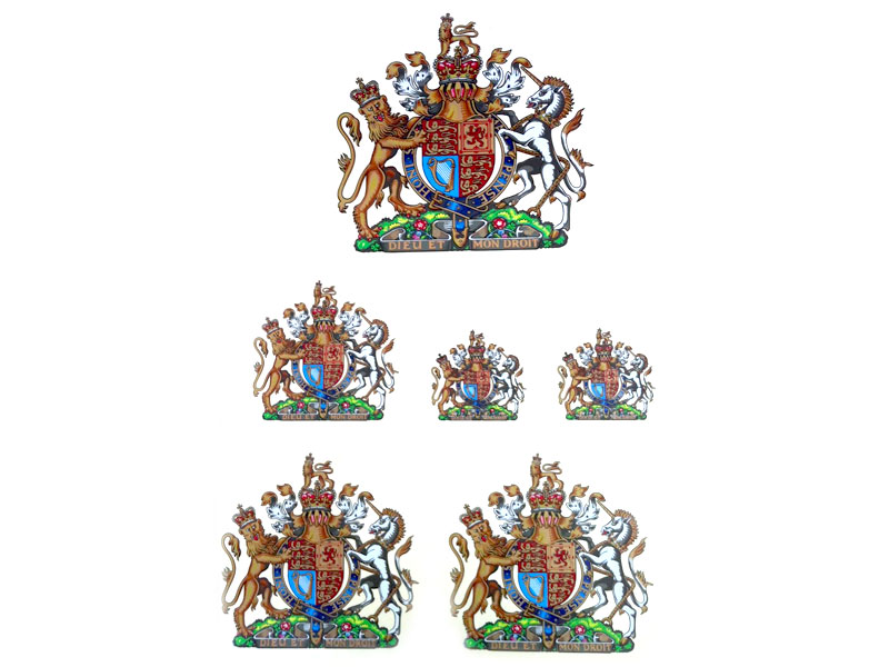 Royal Standard transfers, different sizes