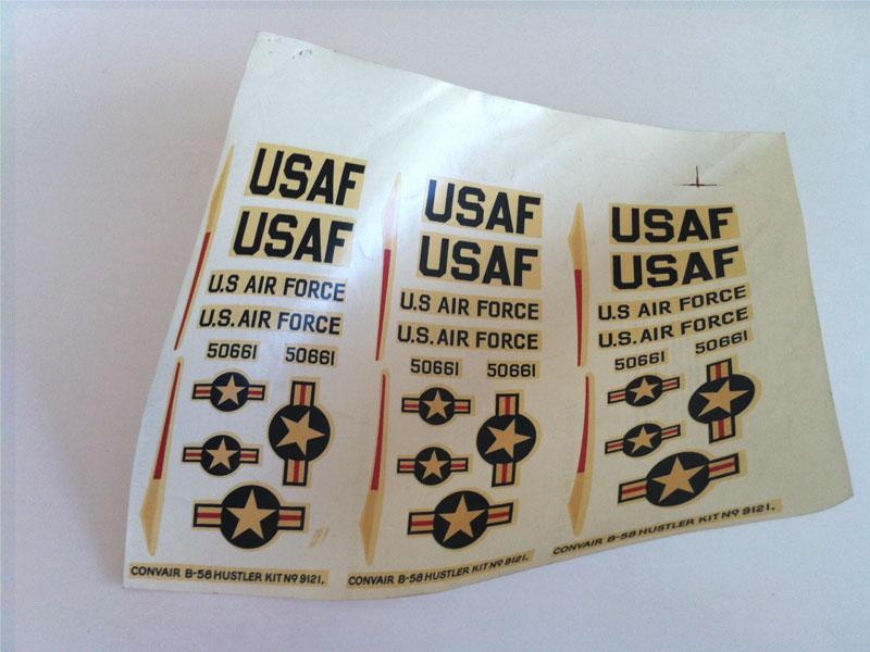 USAF model aeroplane transfer