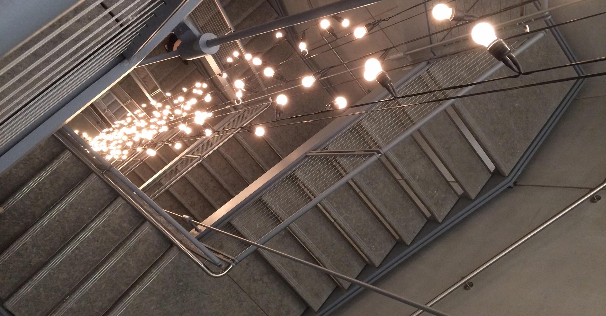 Installation of  Untitled  by Felix Gonzalez-Torres.