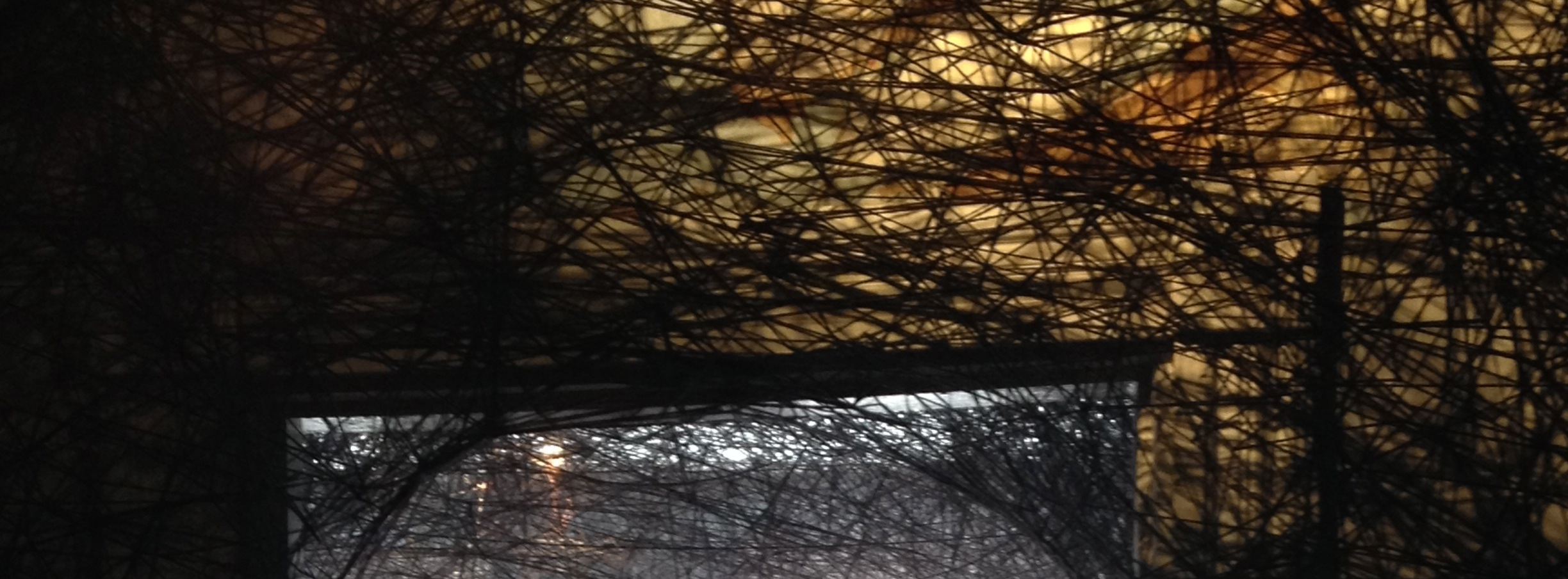 Detail from  Trace of Memory  by Chiharu Shiota.