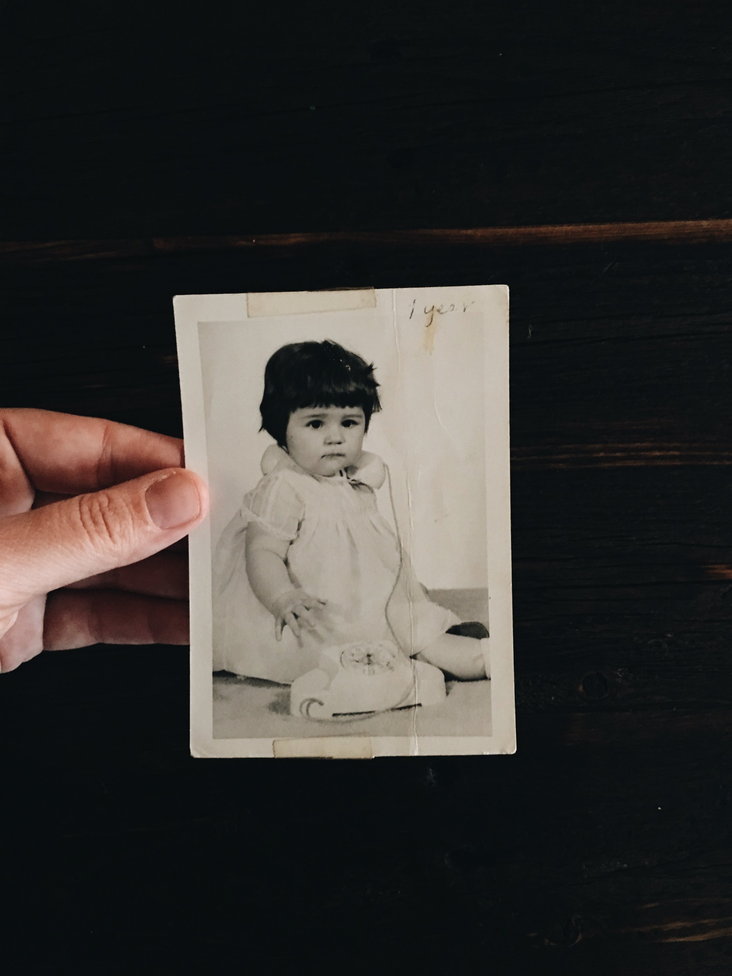 My mom at one year old; she looks so much like Ester!