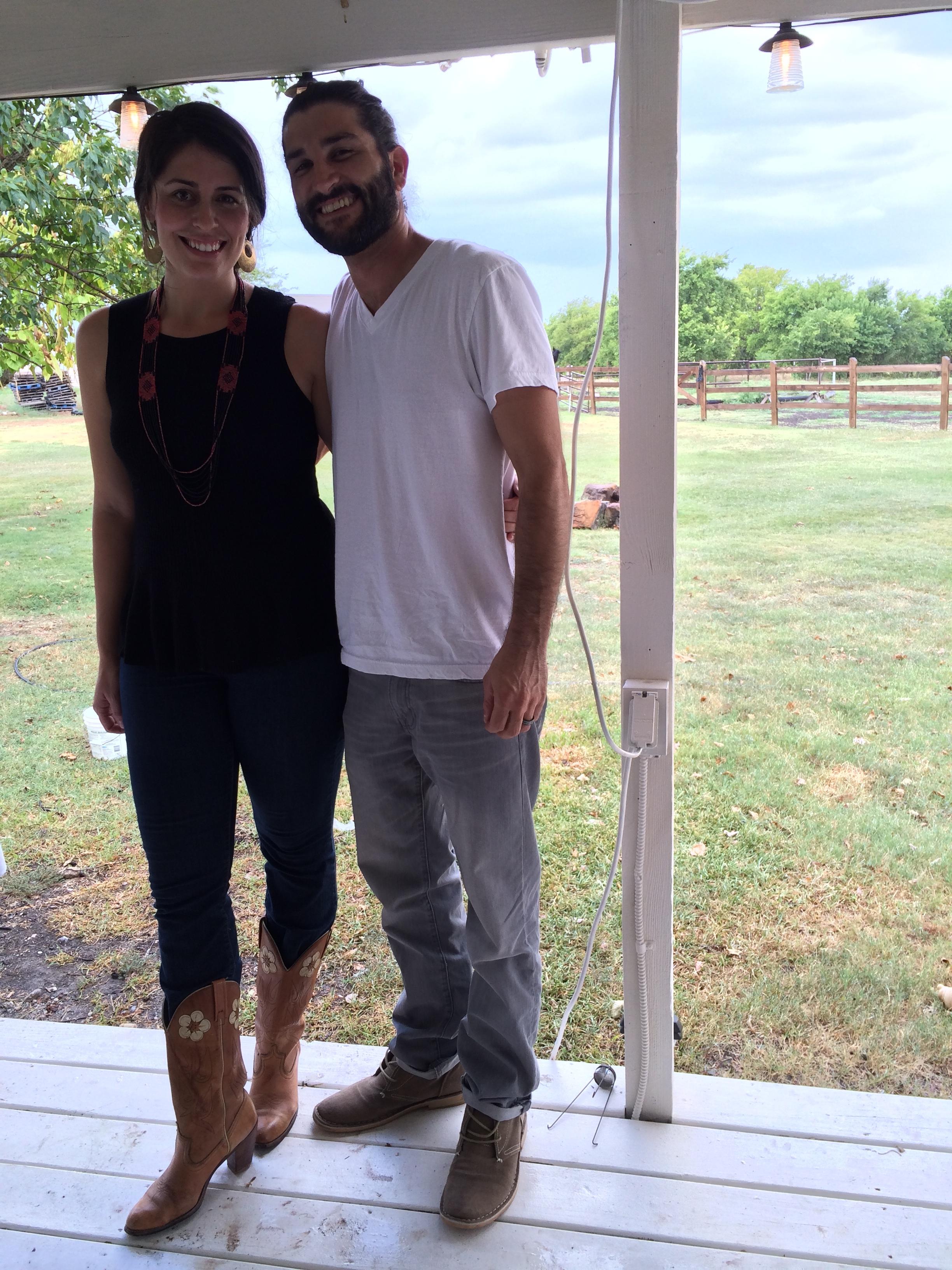 Sam and me - Fall 2014 - three years married