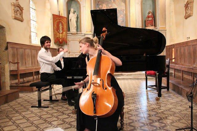 Récital à Monteille  Tanguy de Williencourt, Piano  Maude Ferey, Violoncelle