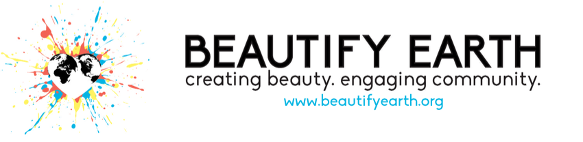 Beautify Earth has become an ongoing community project dedicated to making the world a better place, by bringing color to our neighborhoods and streets. Art has the capacity to inspire and convert frowns and apathy into smiles. When one drives down any street they have the opportunity of a joyful experience instead of looking at a dilapidated wall. Art creates change, turns a neighborhood into a community, and instills pride.
