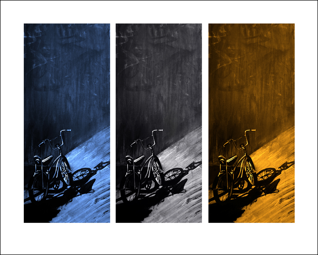 Urban Bike - Tryptic (PRINT) Framed
