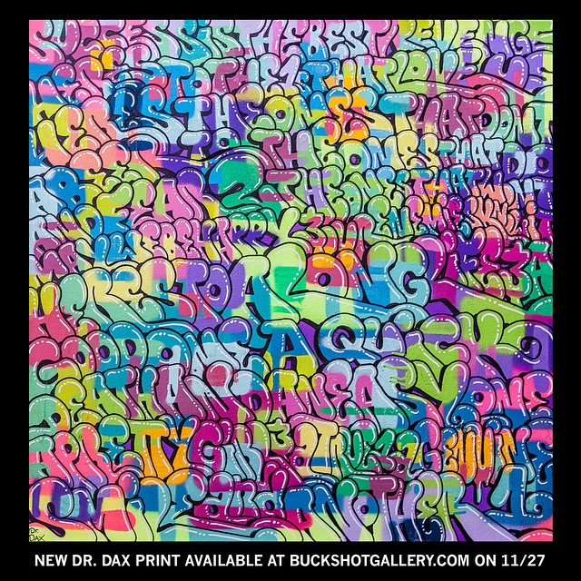 Check out this cool print by @dr.dax available @buckshotgallery #graffiti #contemporary #art #montanacans