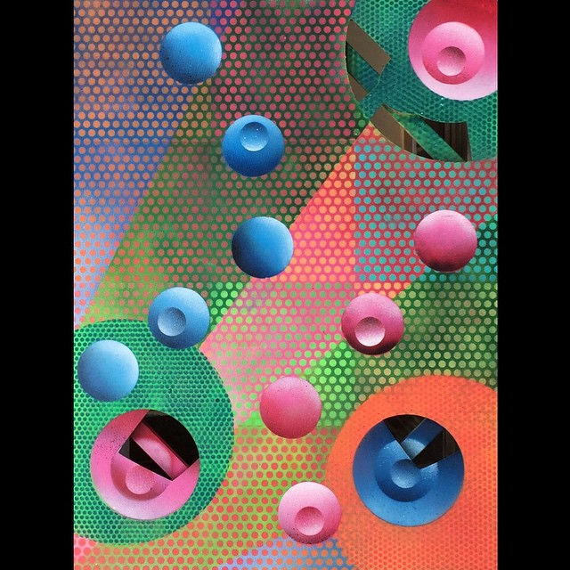 Full circle #Malibu #artist #santamonica #art #acrylic #painting #montanacans #blue #pink #color #contemporaryart
