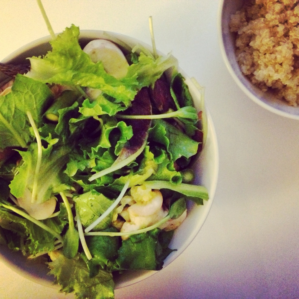 Salad + quinoa = the dinner of summer