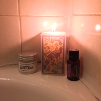 Practicing what I preach! Took a relaxing bath with bath salts and essential oils this weekend!