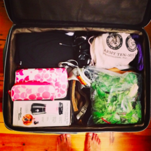Yup, there's a blender in my suitcase.