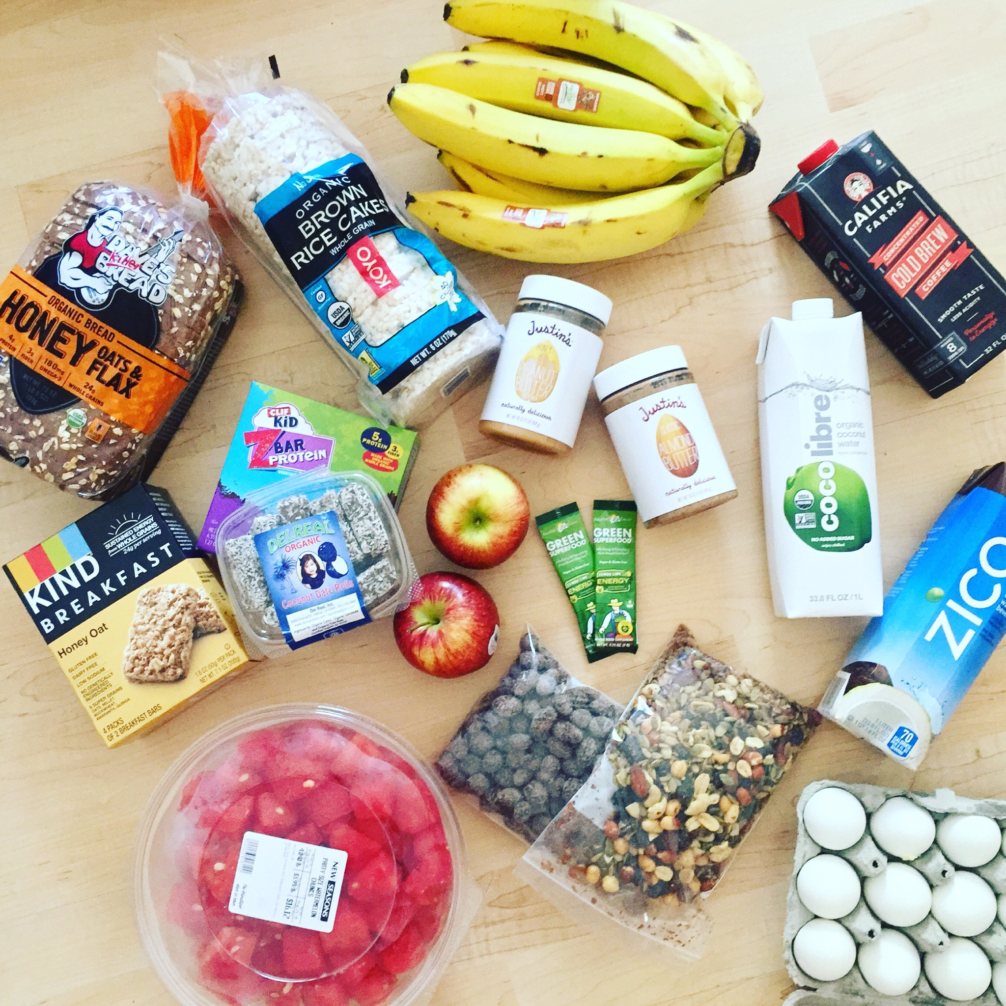 All the healthy snacks!