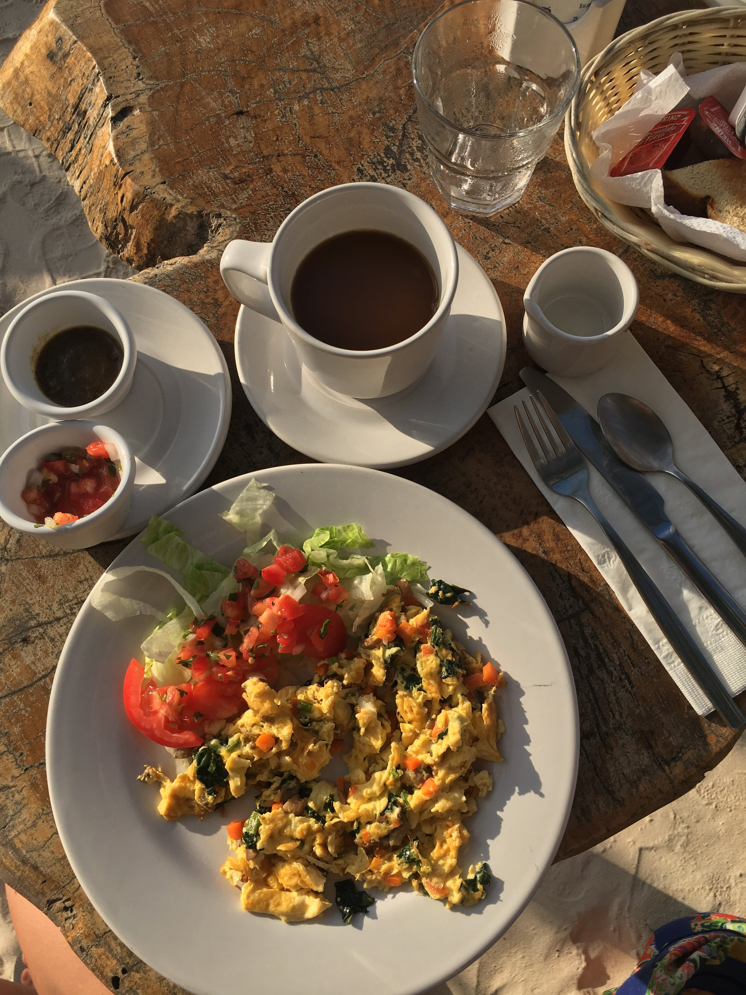 Breakfast one morning