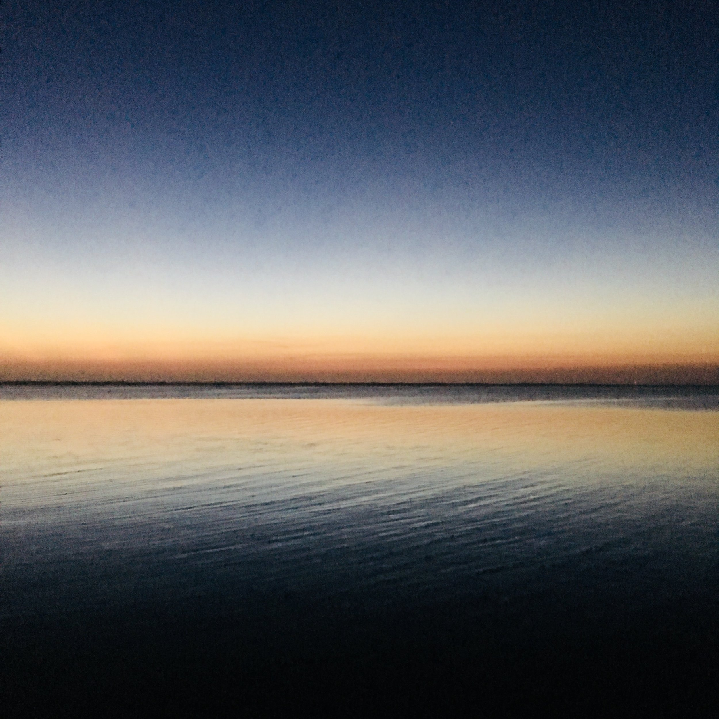 Serene sunset over the sound this weekend in Duck, North Carolina