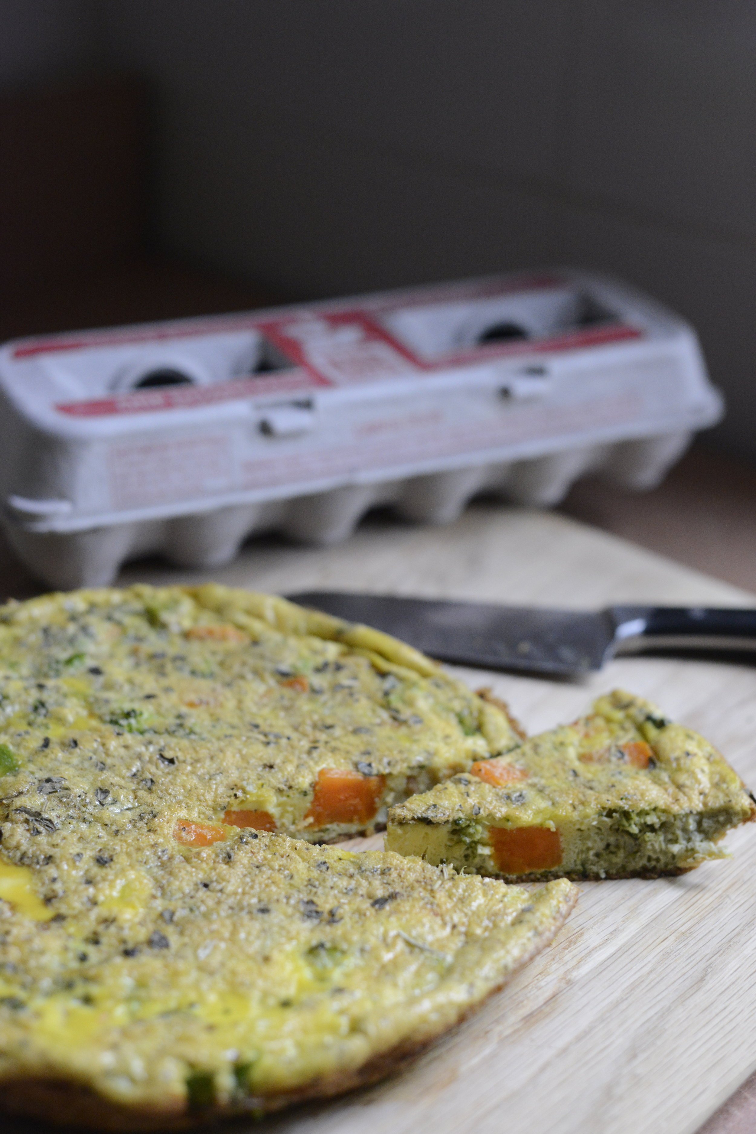 Simple Veggie Frittata - Emily Nachazel.JPG