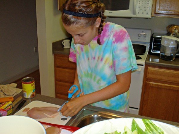 The more I had stomach issues, the healthier I tried to be. Yes I'm cutting the fat off chicken breasts here