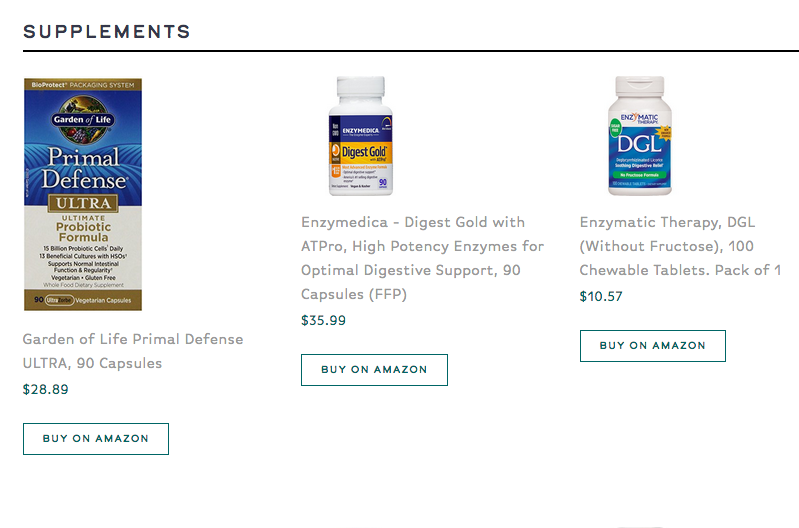 "These supplements and more are all linked on my ""Favorite Products"" page"