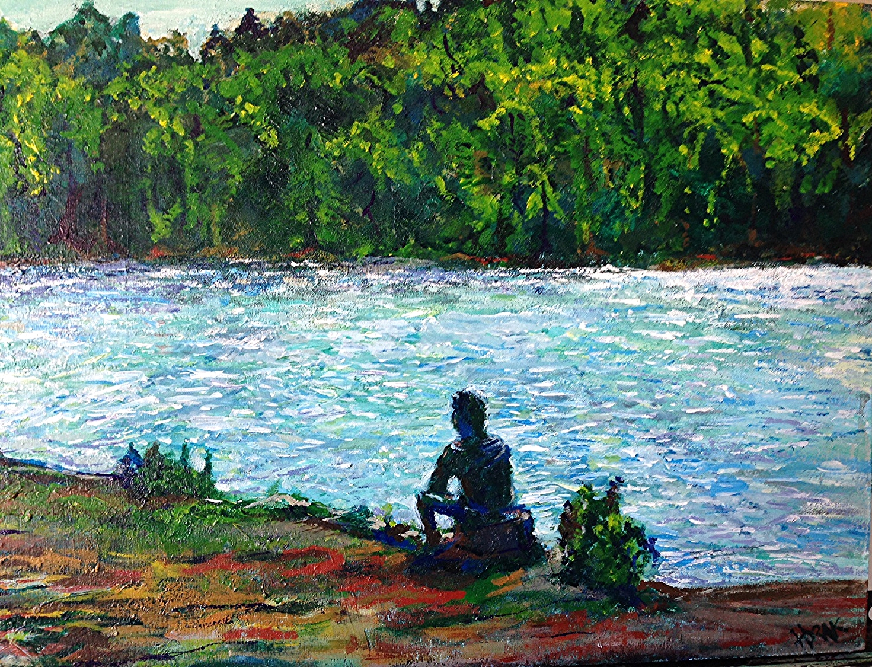 TeePee Lake, Algonquin Park.  Acrylic on Wood Panel. 12x16 Sold