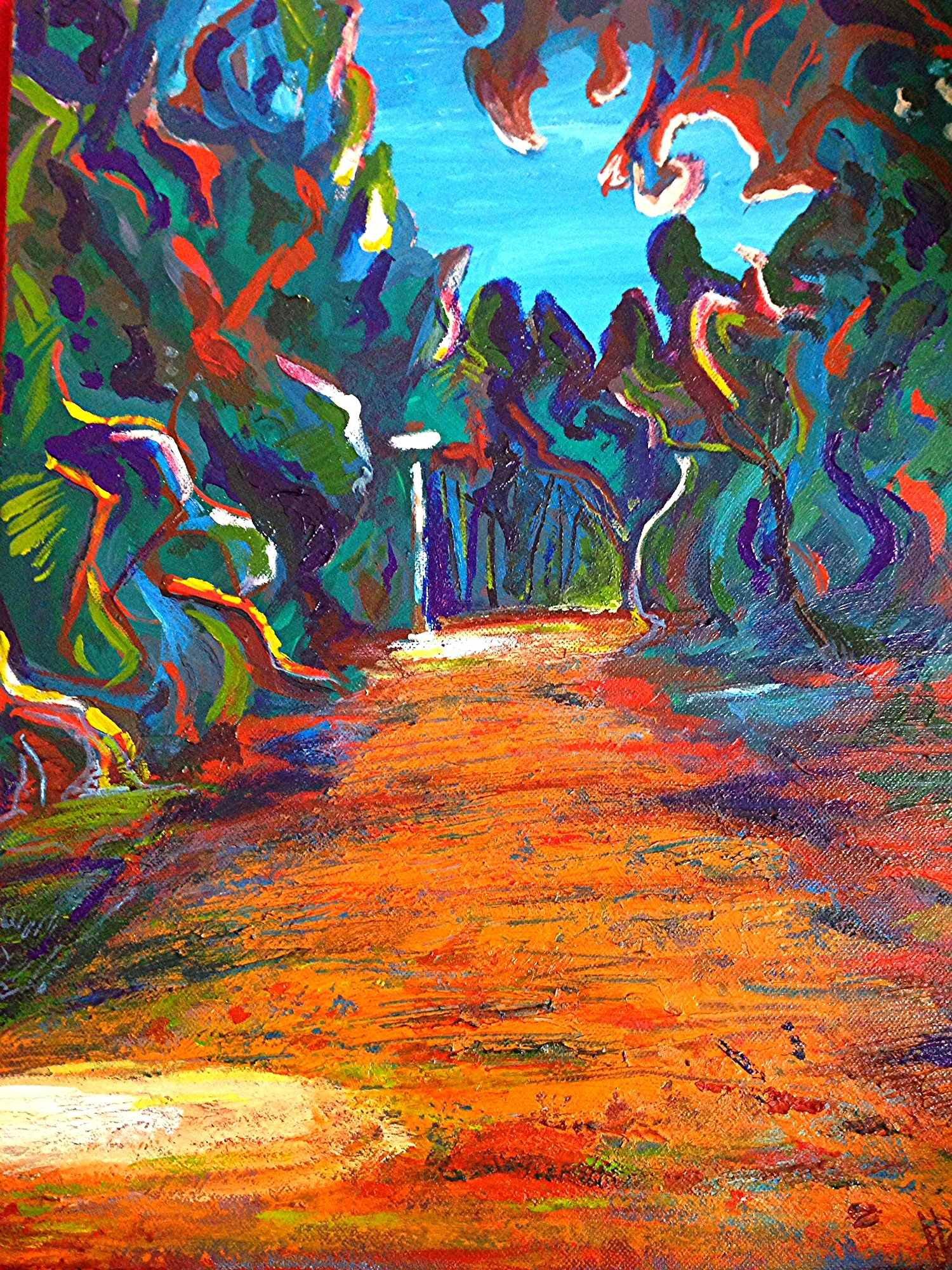 Forest Hill Ravine, Toronto.  Acrylic on Canvass.  12x16