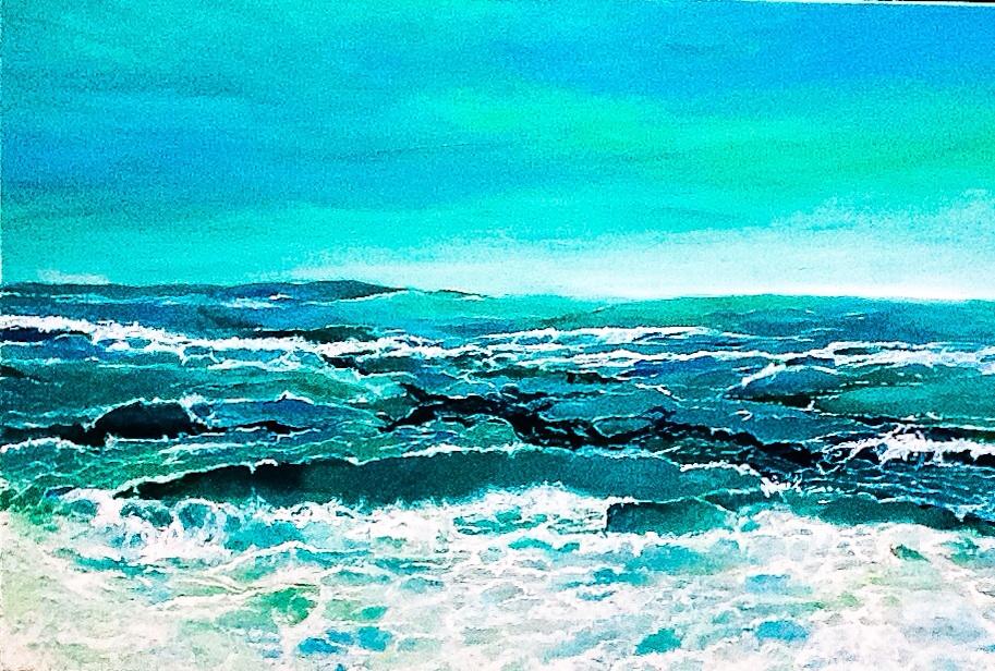 """Haida Gwaii. Acrylic on Canvass. 24""""x36""""."""