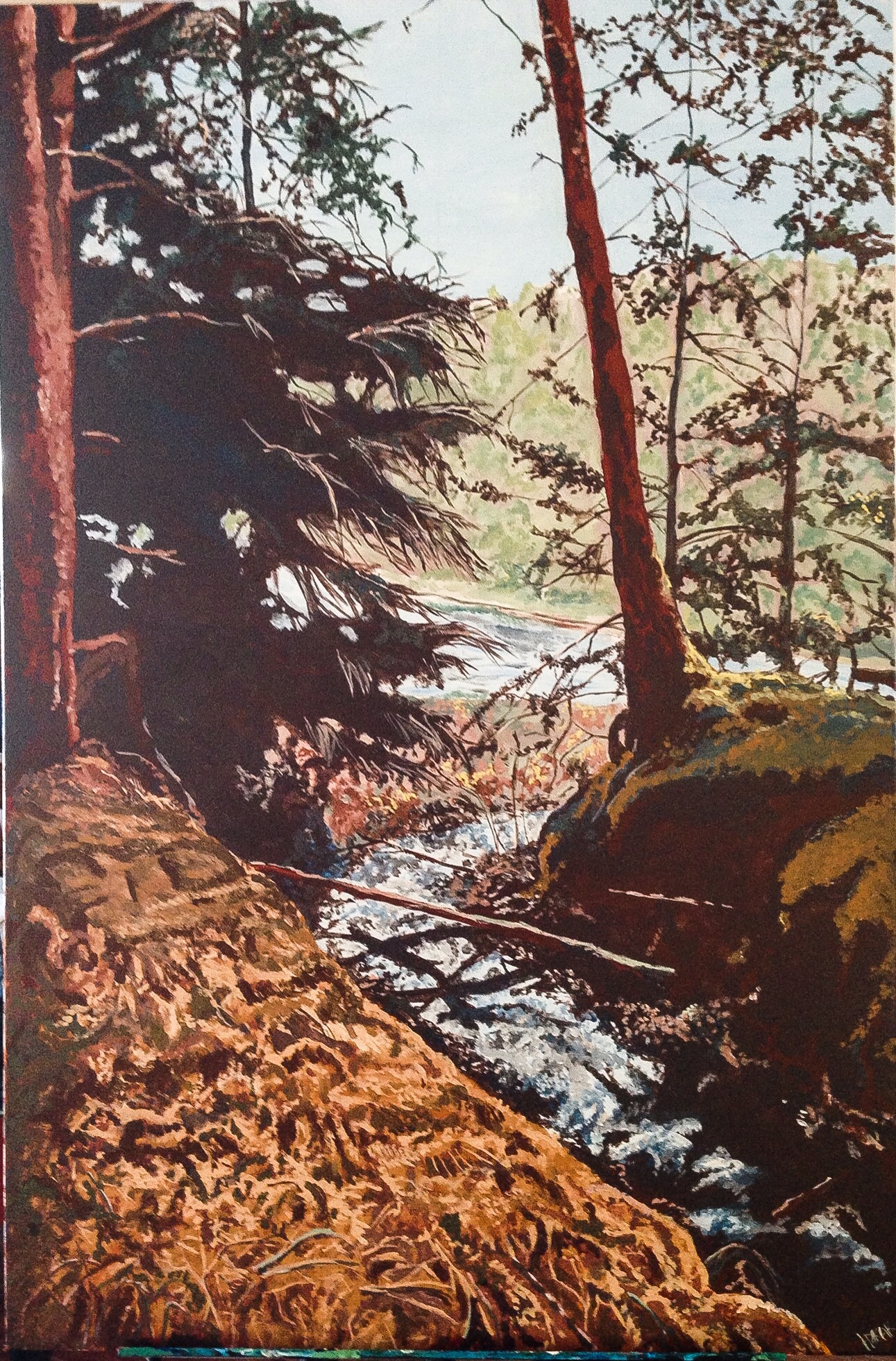 """Haida Gwaii, 2. Acrylic on Canvass. 24""""x36"""""""